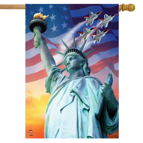 Liberty For All Patriotic House Flag