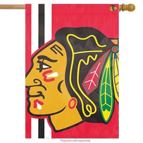 Chicago Blackhawks Bold Logo House Flag