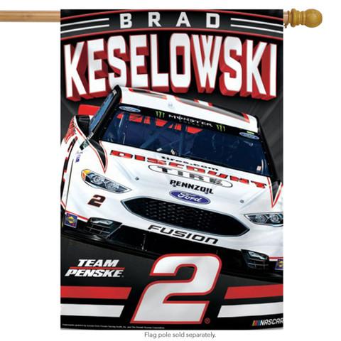 Brad Keselowski #2 Vertical House Flag