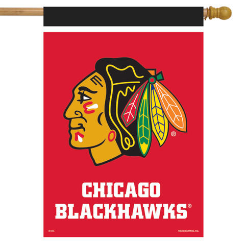 Chicago Blackhawks NHL House Flag