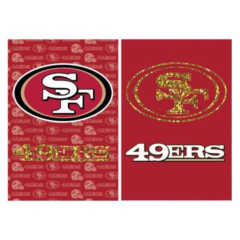 San Francisco 49ers Glitter Garden Flag