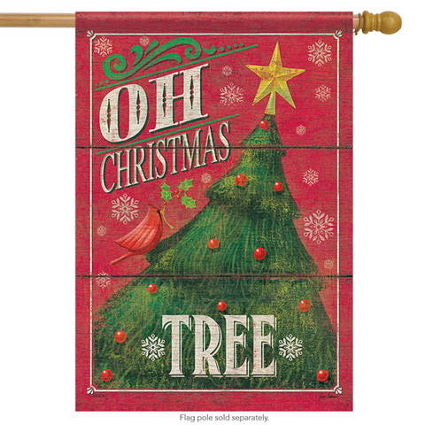 Oh Christmas Tree House Flag