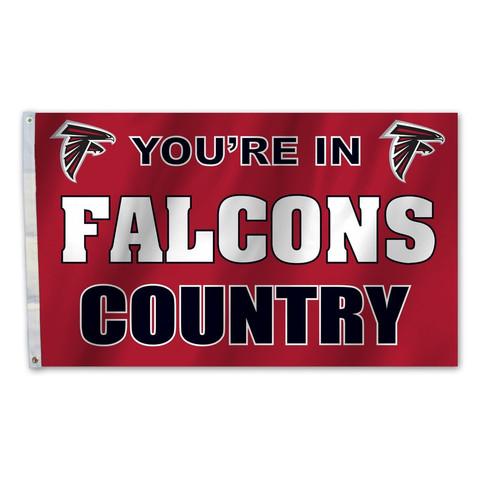 Atlanta Falcons Country Grommet Flag
