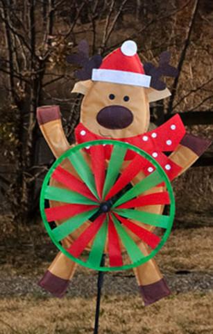 Reindeer Tummy Wind Spinner