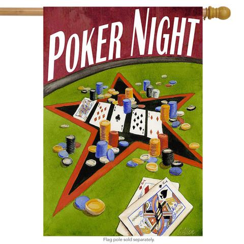 Poker Night House Flag