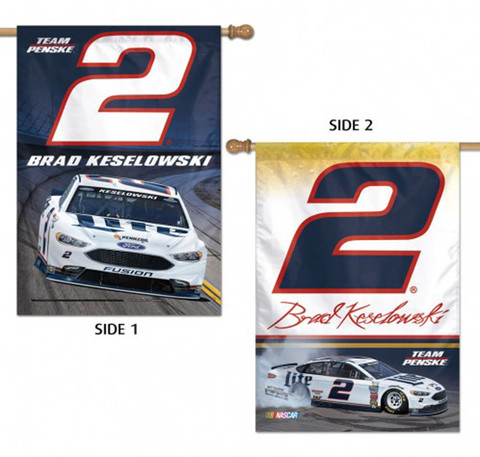Brad Keselowski #2 2 Sided House Flag