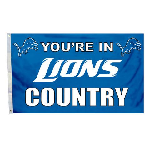 Detroit Lions Country Grommet Flag