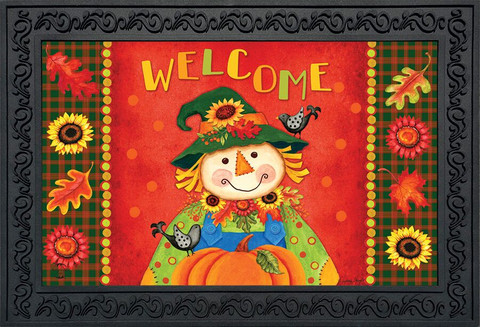 Harvest Scarecrow Fall Doormat