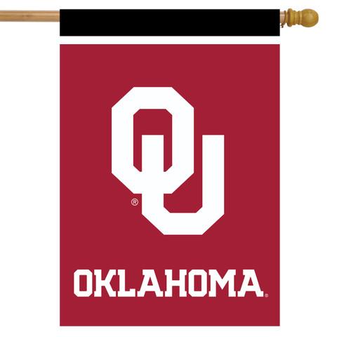 Oklahoma Sooners NCAA House Flag