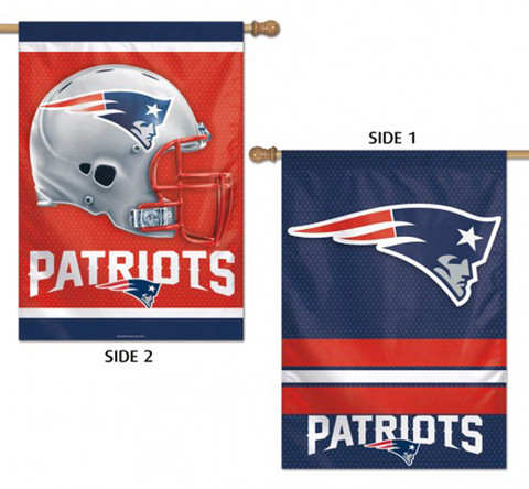 New England Patriots 2 Sided NFL Vertical House Flag