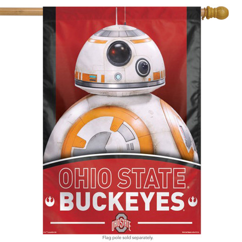 "Ohio State ""Buckeyes"" NCAA Star Wars Vertical House Flag"