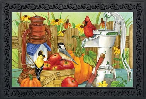 Autumn Display Birds Doormat