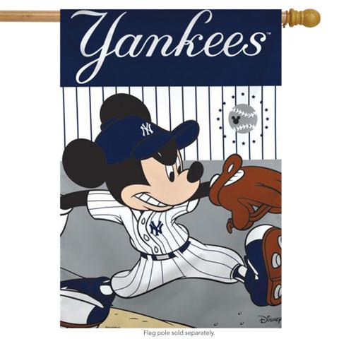New York Yankees MLB Mickey Mouse Baseball House Flag