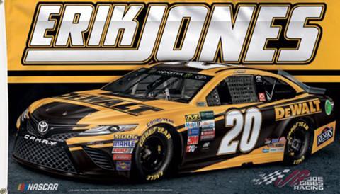 Erik Jones # 20 NASCAR Deluxe Grommet Flag