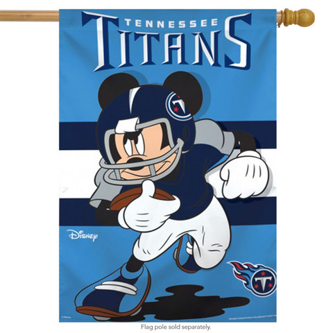 Tennessee Titans NFL Mickey Mouse Football House Flag