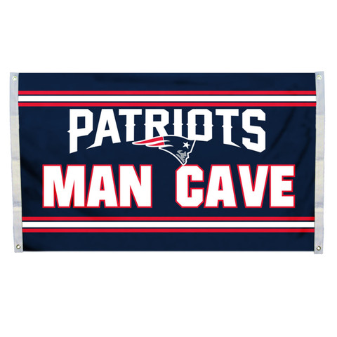 New England Patriots Man Cave Grommet Flag