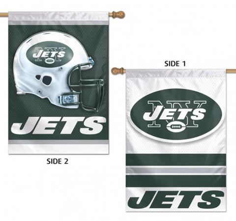 New York Jets 2 Sided NFL Vertical House Flag