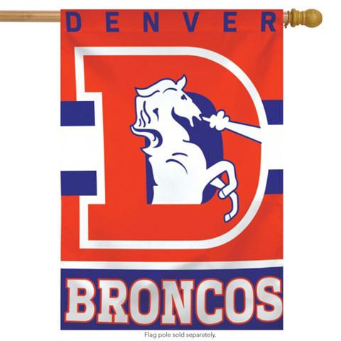 Denver Broncos Vertical NFL House Flag