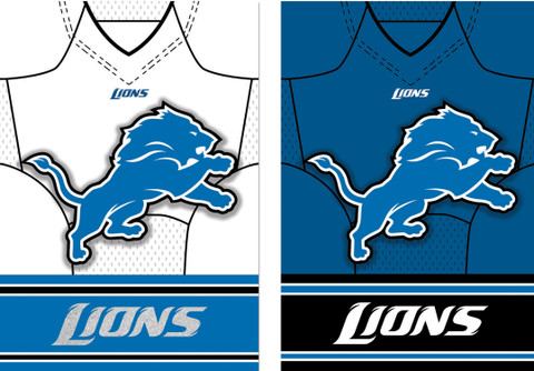 Detroit Lions NFL Football House Flag
