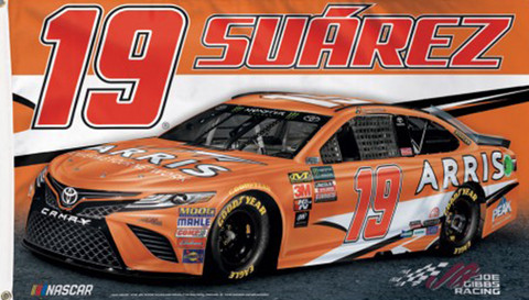 Daniel Suarez #19 NASCAR Deluxe Grommet Flag