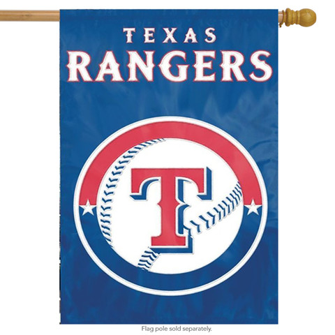 Texas Rangers Applique Embroidered Banner Flag MLB