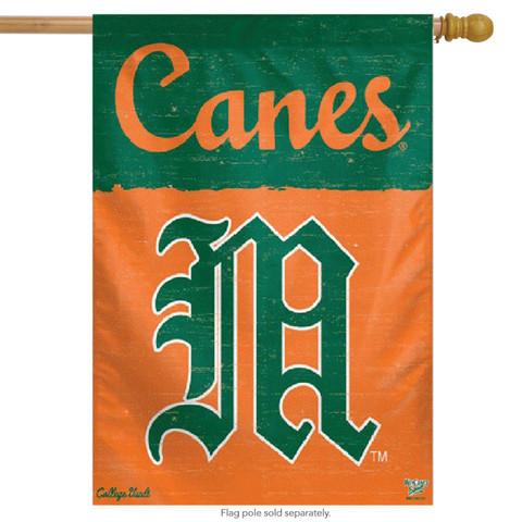 University of Miami Hurricanes NCAA Vertical Flag
