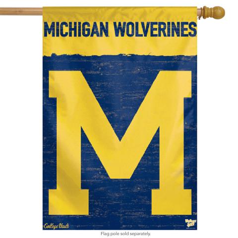 University of Michigan Vertical Flag