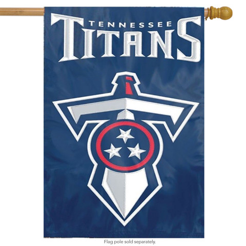 Tennessee Titans Applique Embroidered Banner Flag NFL