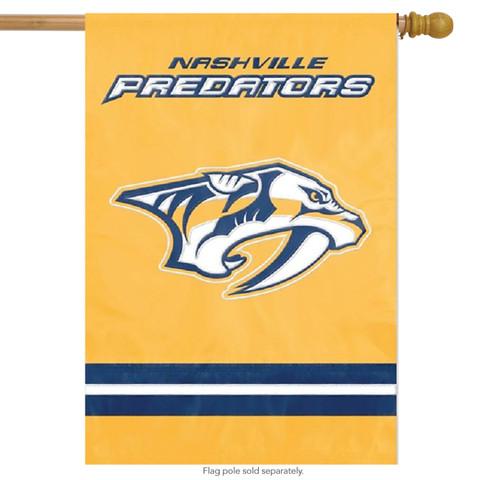 Nashville Predators Applique & Embroidered Flag NHL