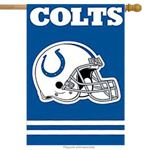 Indianapolis Colts Applique Embroidered Banner Flag NFL
