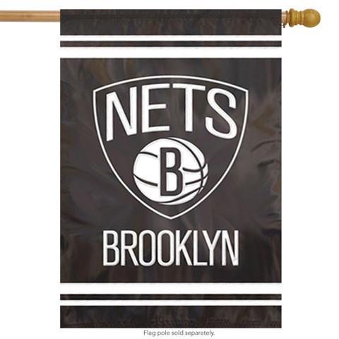 Brooklyn Nets Applique House Flag