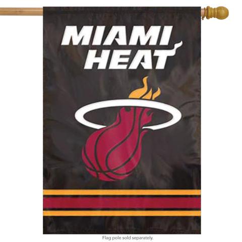 Miami Heat Applique House Flag