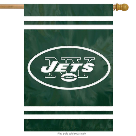 New York Jets Applique Embroidered Banner Flag NFL
