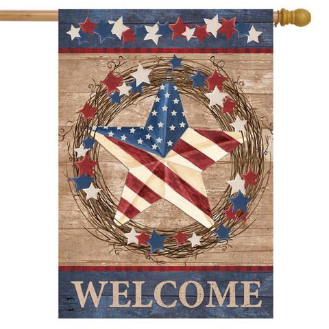 Americana Barnstar Patriotic House Flag
