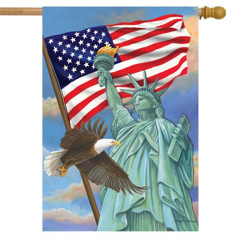 Symbols of Freedom Patriotic House Flag