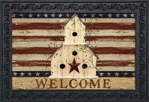 Americana Welcome Patriotic Doormat