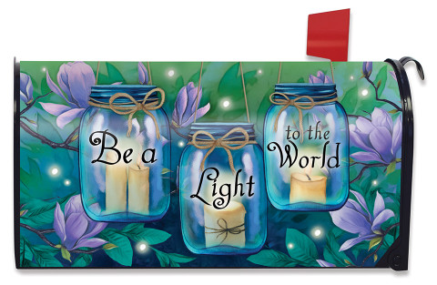 Be A Light To The World Spring Mailbox Cover
