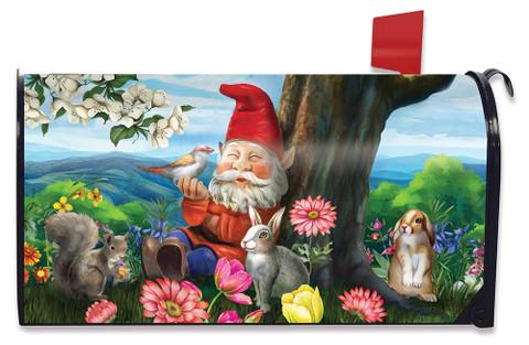 Garden Gnome Spring Mailbox Cover