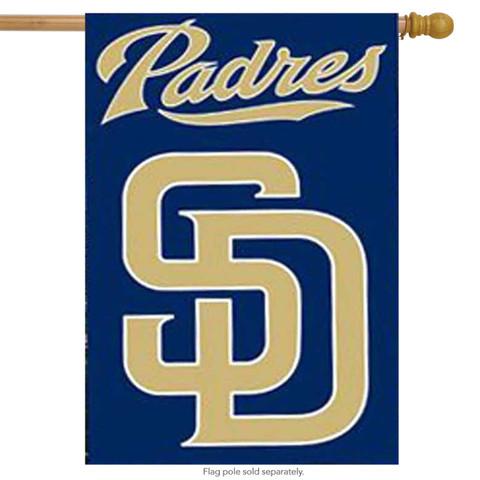 San Diego Padres Applique Embroidered Banner Flag MLB