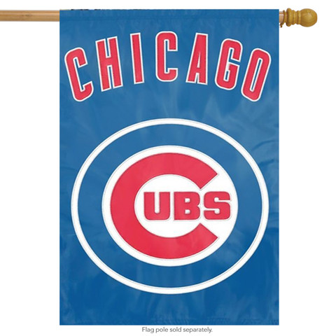 Chicago Cubs Applique Embroidered Banner Flag MLB