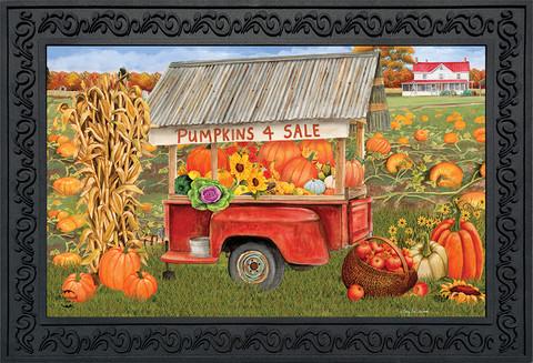 Pumpkins For Sale Autumn Doormat