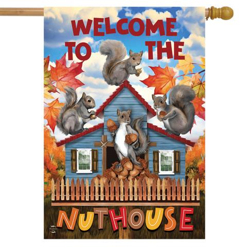 Nut House Fall House Flag