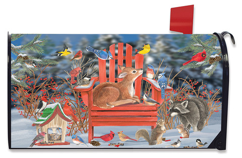 Snow Day Gathering Winter Mailbox Cover