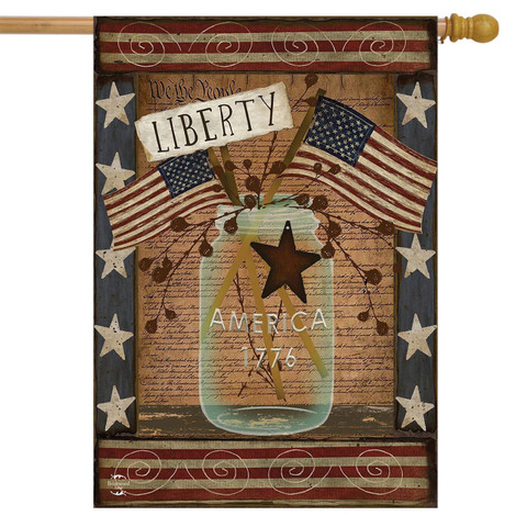 Liberty Primitive House Flag
