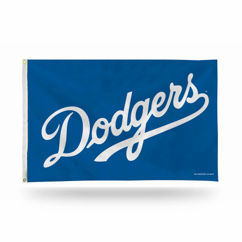 Los Angeles Dodgers Script MLB Grommet Flag