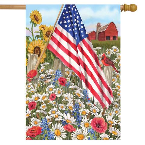 America the Beautiful Summer House Flag