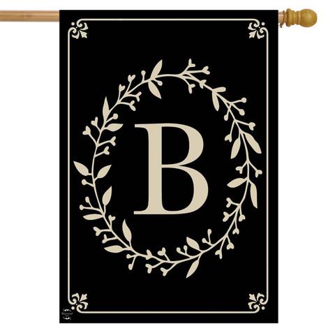 Briarwood Lane Classic Monogram Letter B Double-Sided House Flag