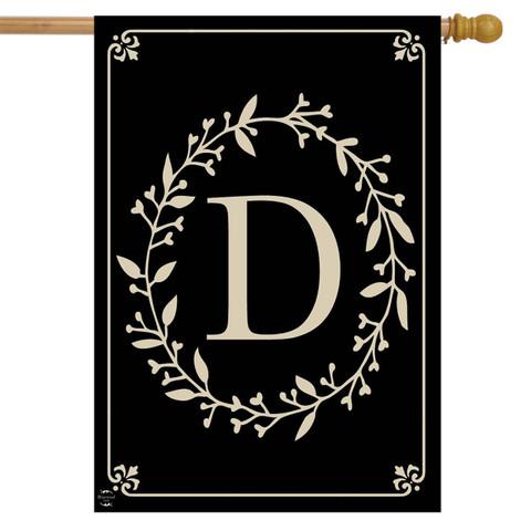 Briarwood Lane Classic Monogram Letter D Double-Sided House Flag