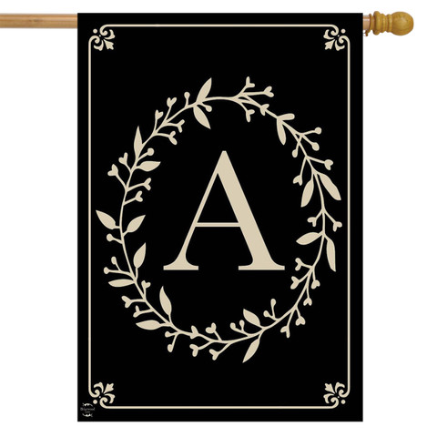 Briarwood Lane Classic Monogram Letter A Double-Sided House Flag