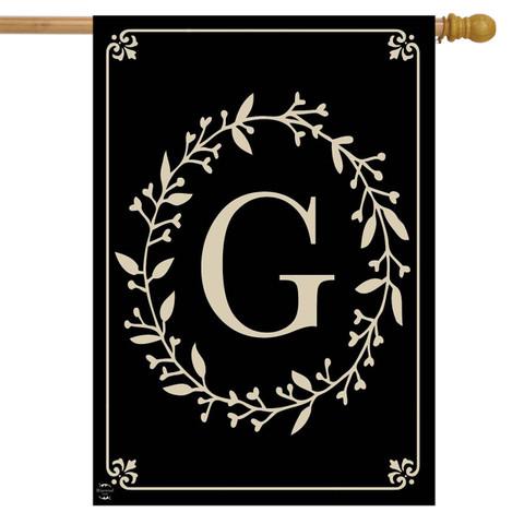 Briarwood Lane Classic Monogram Letter G Double-Sided House Flag